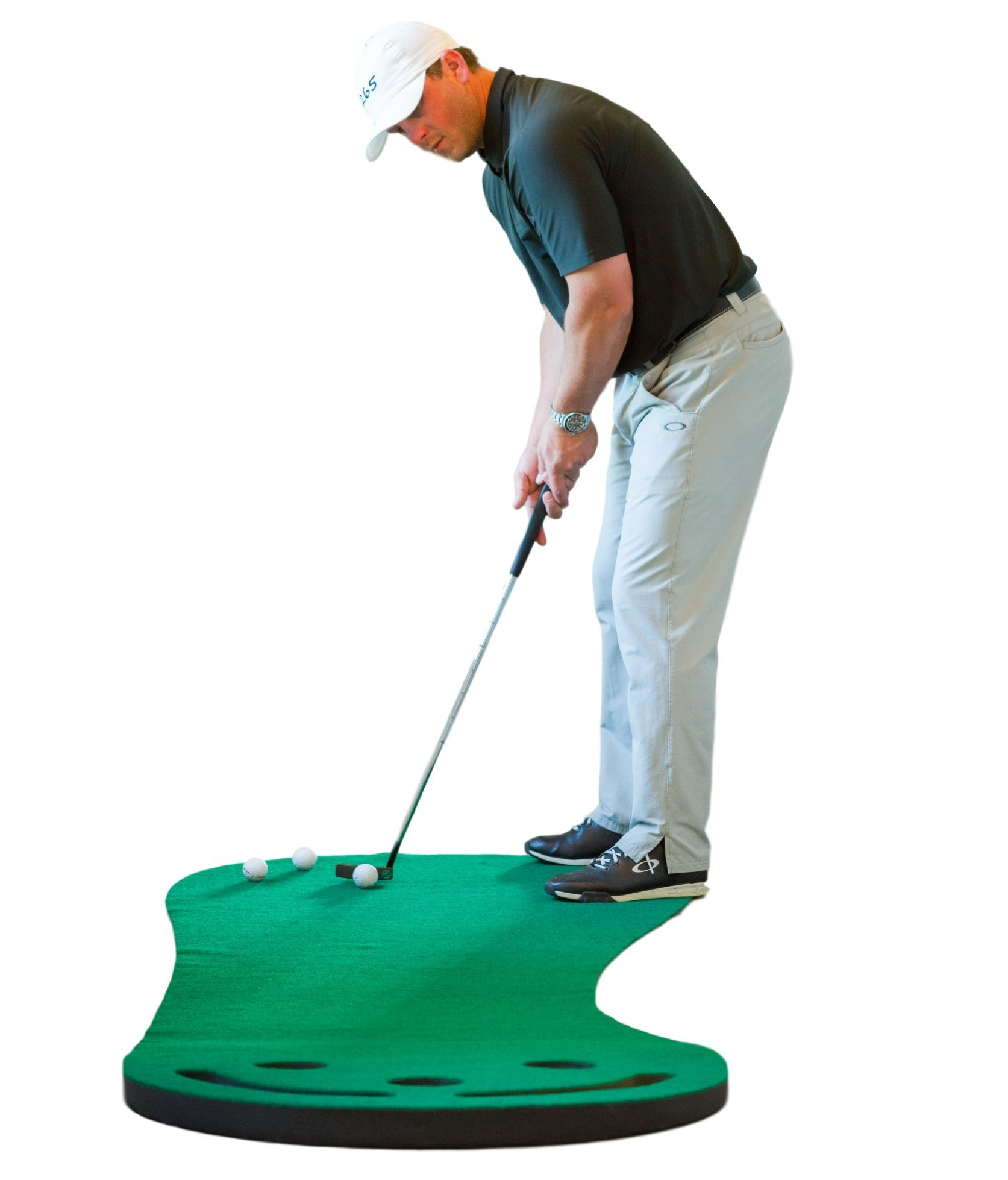 Shaun Webb's Golf Putting Green & Indoor Mat 9'x3' (Golf Digest's Top Teacher) Premium Backing, Thicker & Wider Surface