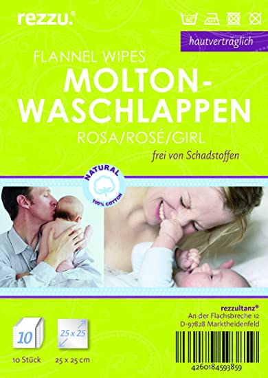 rosa 10 St/ück Baby Molton Waschlappen
