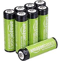 AmazonBasics - Juego de 8 pilas recargables AA Ni-MH (precargadas, 1000 ciclos, 2000 mAh/mínimo 1900 mAh) - La cubierta…
