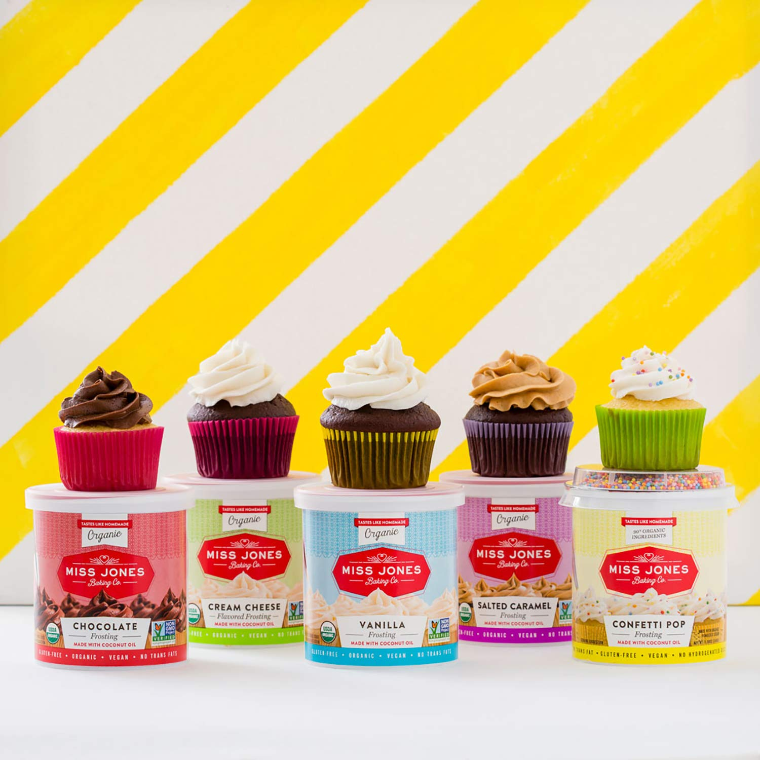 Miss Jones Baking 90% Organic Birthday Buttercream Frosting, Perfect for Icing and Decorating, Vegan-Friendly: Confetti Pop (Pack of 6) by Miss Jones Baking (Image #7)
