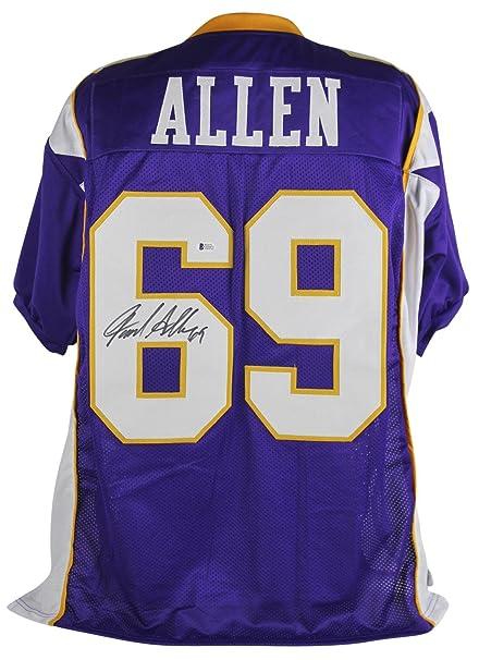 Signed Jared Allen Jersey - Purple BAS - Beckett Authentication -  Autographed NFL Jerseys 484fa964e