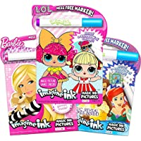 Girls Coloring Book Imagine Ink for Girls Super Set ~ Bundle Includes 3 No Mess Magic Ink Activity Books Featuring My…