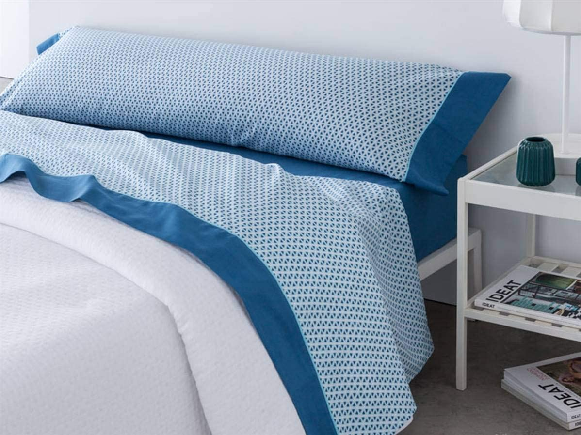 Barcel/ó Cama 90 cm Juego de s/ábanas Titan Color Azul