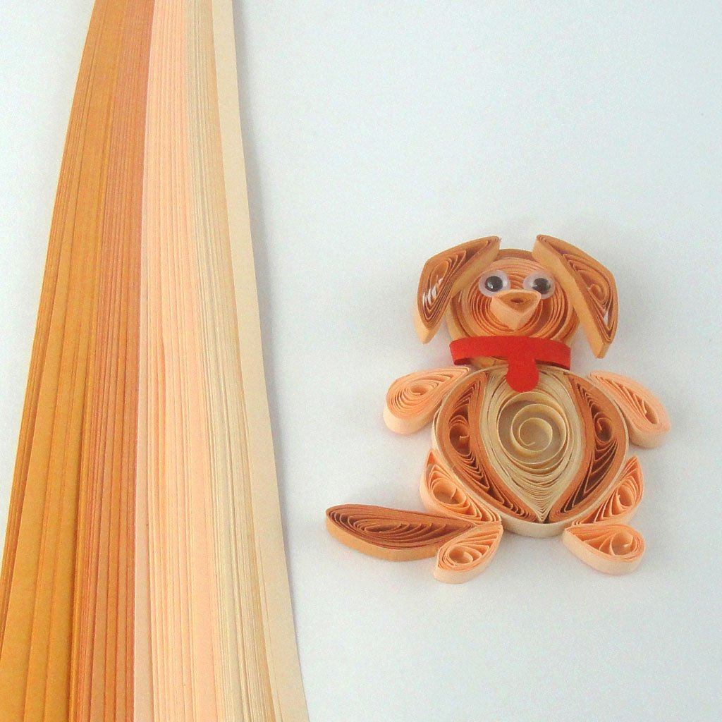 Tones of Khaki - 5 mm - 100 Quilling Strips By The Buy