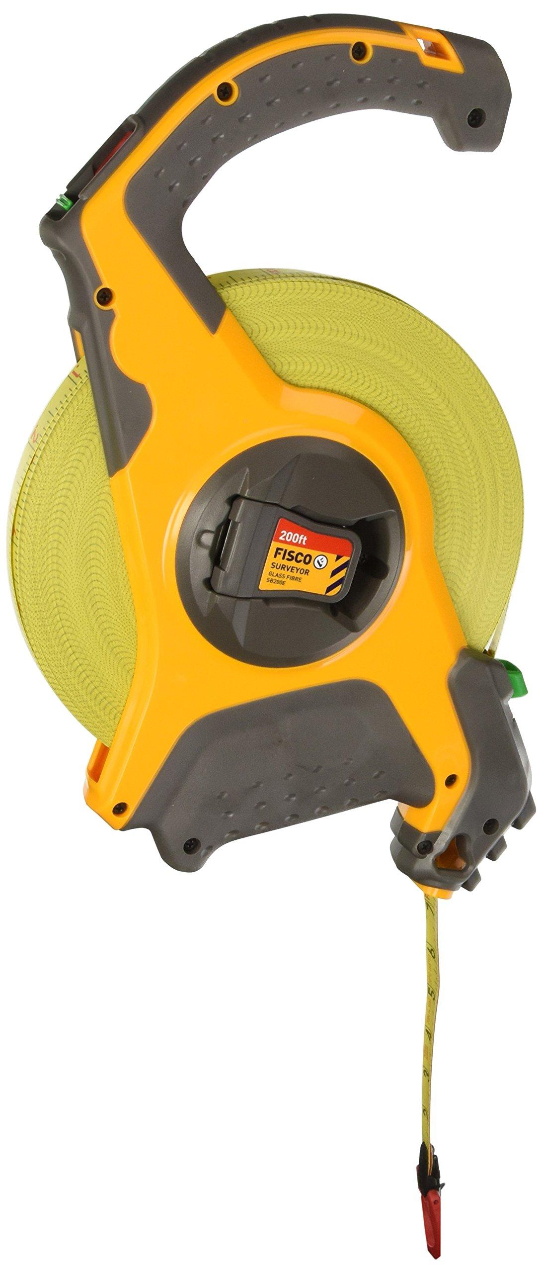 Fisco Tools SB200E Surveyor-Feets Fiberglass Long Tape, 1/2-Inch by 200-Feet