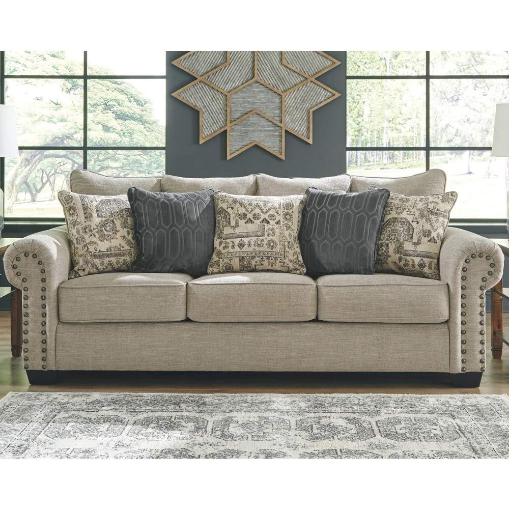 Amazon.com: Signature Design by Ashley 9770439 Queen Sofa ...