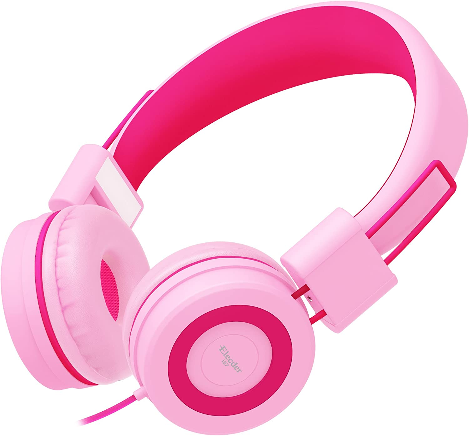 Pink Foldable Wired Headset for Kids Teens Boys Girls Travel Tablets Blue Compatible with Cellphones Kids Headphones Adjustable On-Ear Headphones for School