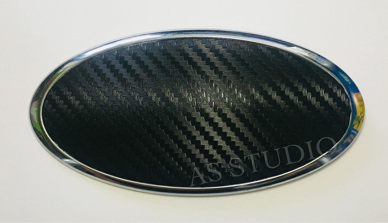 2x 130x65mm Emblem Folie (117x57mm) Carbon schwarz