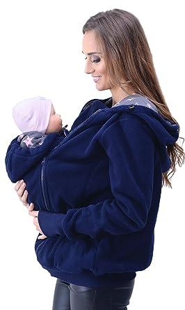 Mija - 3in1 Tragejacke, Umstandsjacke Tragepullover für Tragetuch für  Babytrage 4047 (EU36   S bd325f0a826