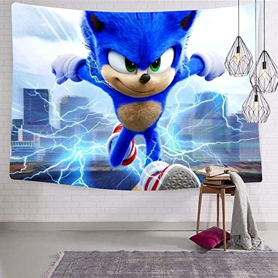 XIANN So-Nic Hed-Gehog 2020 Printed Wall Hanging Tapestry for Livingroom Decor 3 Size