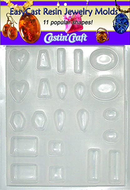 Environmental Technology 33610 Castin' Craft EasyCast Resin Jewelry Mold,  11 Popular Jewelry Shapes On One Tray
