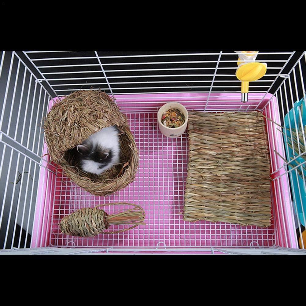 Yunhigh Mascota Conejo Chinchilla Conejillo de Indias H/ámster Hierba Paja Trenzada Zanahoria Mordedor Juguete Natural
