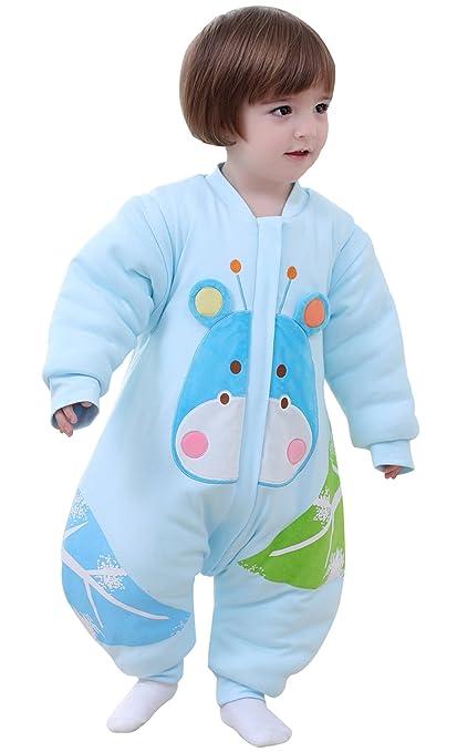 BEIFANCHEN - Mono Saco de Dormir Espese para Bebés Invierno Pijama de Algodón con Pies Cremallera
