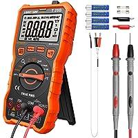LOMVUM Digital multimeter testare, TRMS 6 000 räknar automatiskt spänningsmätare; mäter spänningstest, ström, motstånd…