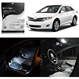 Partsam 2009-2015 Toyota Venza White Interior LED Package Kit + License Plate Lights (