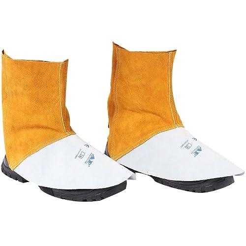Bolas de Soldadura, Botas de Seguridad Cubiertas de Calzado de Trabajo de Piel de Vacuno Resistente al Fuego, Guardameta: Amazon.es: Zapatos y complementos