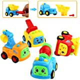 Car Toy, Push and Go Friction Powered Truck Toy,Can Take-Apart and