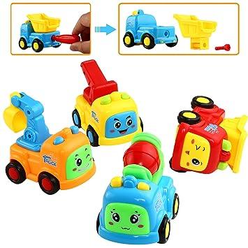 Juguete del Coche, Juguete de Carro Accionado de la Fricción de Empuje, Puede Desmontar e Instalar, Vehículos de Empuje de LYKJ-COLORS para Bebé y ...