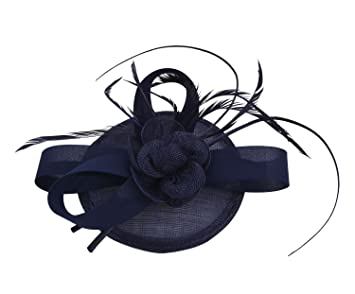 Aniwon tocado sombrero de cóctel fiesta sombrero de plumas ...