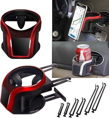 Mioke Getr/änkehalter Auto 2 in 1 Flaschenhalter Kaffee Handy Halterung L/üftung Multifunktion Auto L/üftungshalterung Handyhalterung Blau