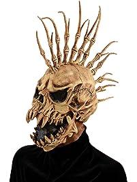 Evil Skeleton with Fin Mohawk Costume Mask
