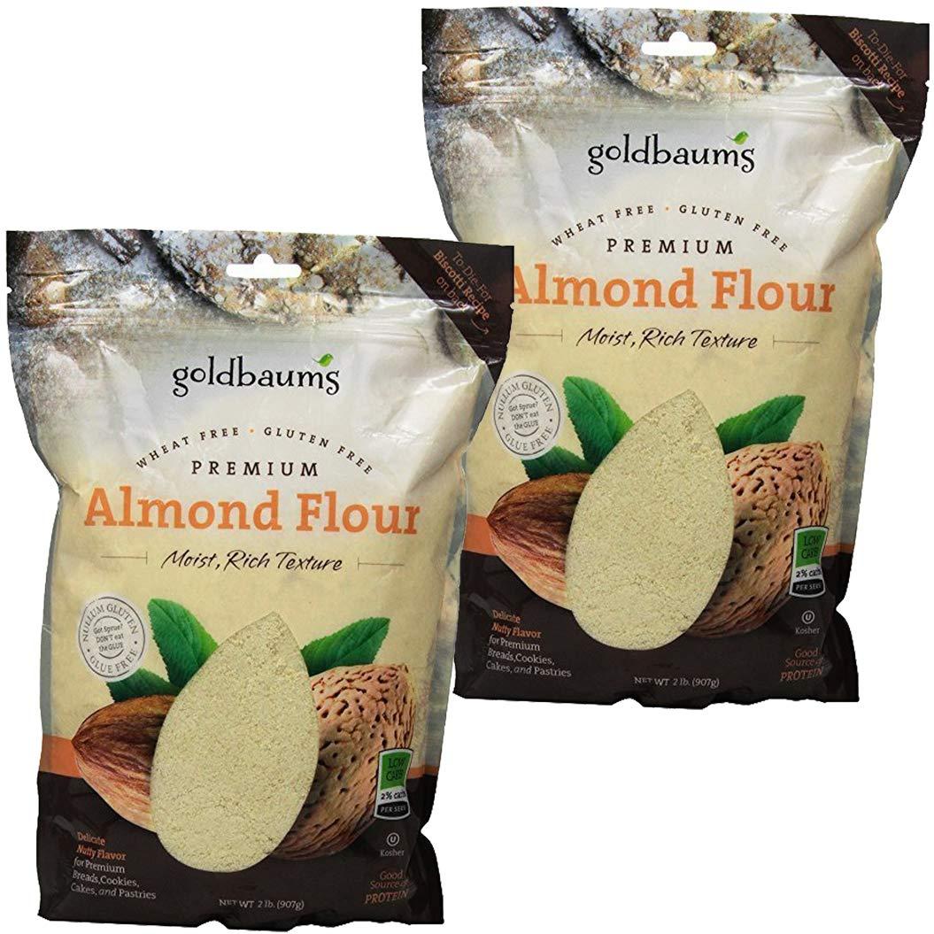 Goldbaum's Almond Flour Bag, Kosher For Passover, 32 Ounce Bag (Pack of 2, Total of 64 Oz)