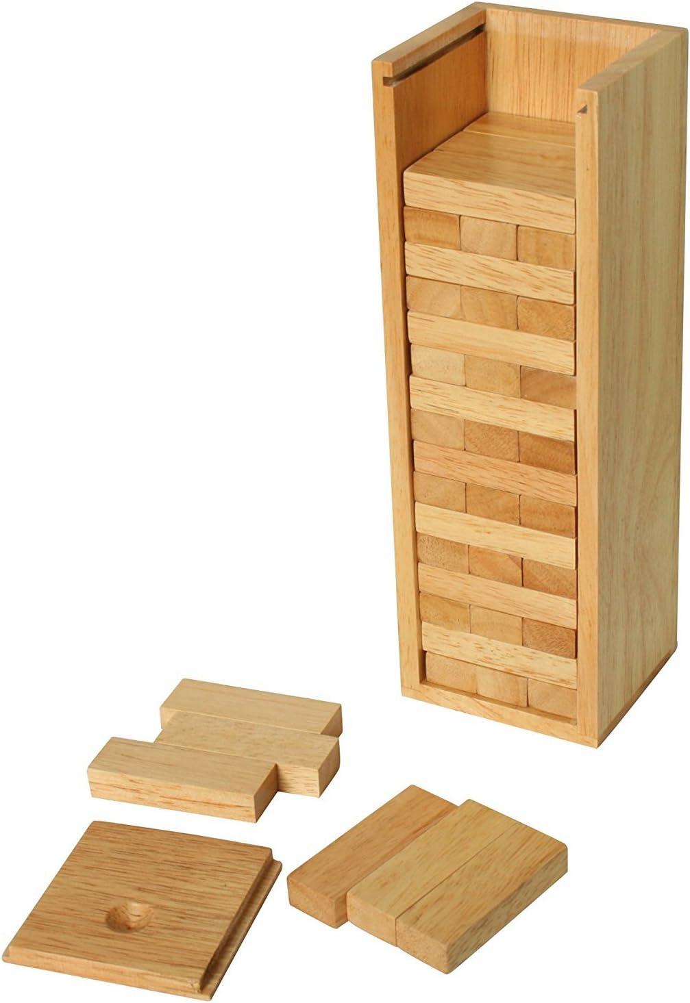 Apilables Torre con caja de madera: Amazon.es: Juguetes y juegos