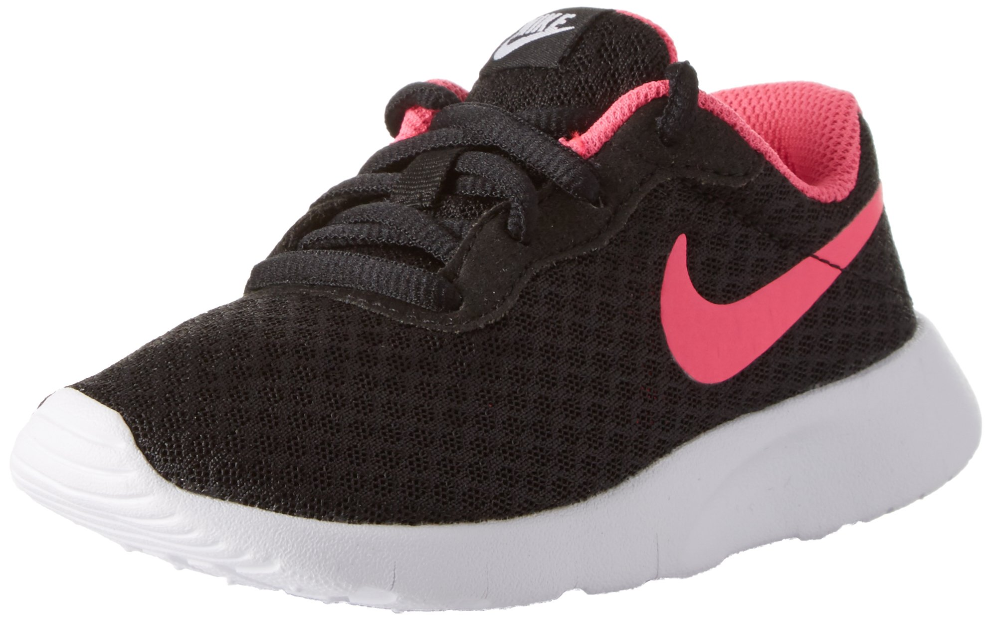 Nike Girl's Tanjun (PS) Running Shoes (11 Little Kid M, Black/Hyper Pink/White)