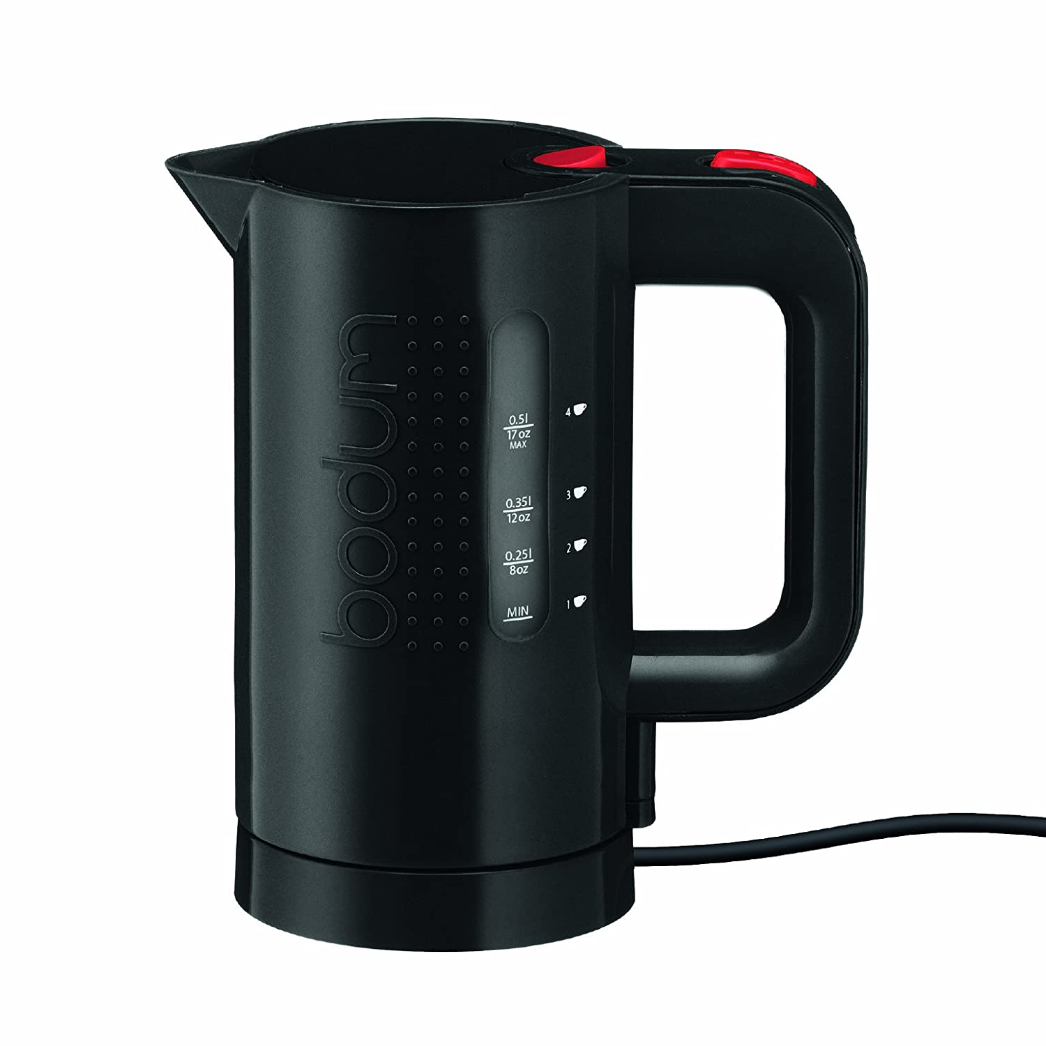 Bodum Bistro Electric Water Kettle, Plastic, 17 Ounce, .5 Liter, Black