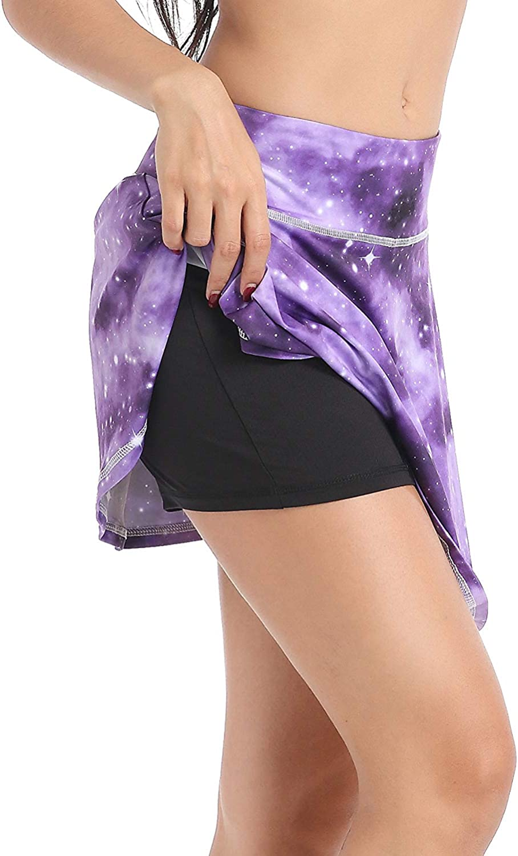 Annjoli Womens Skort Active Athletic Skirt for Running Tennis Golf Workout Sports Skorts