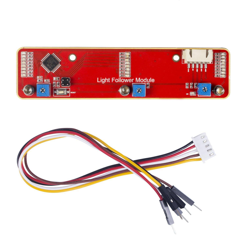 Phototransistor light follower module for arduino and