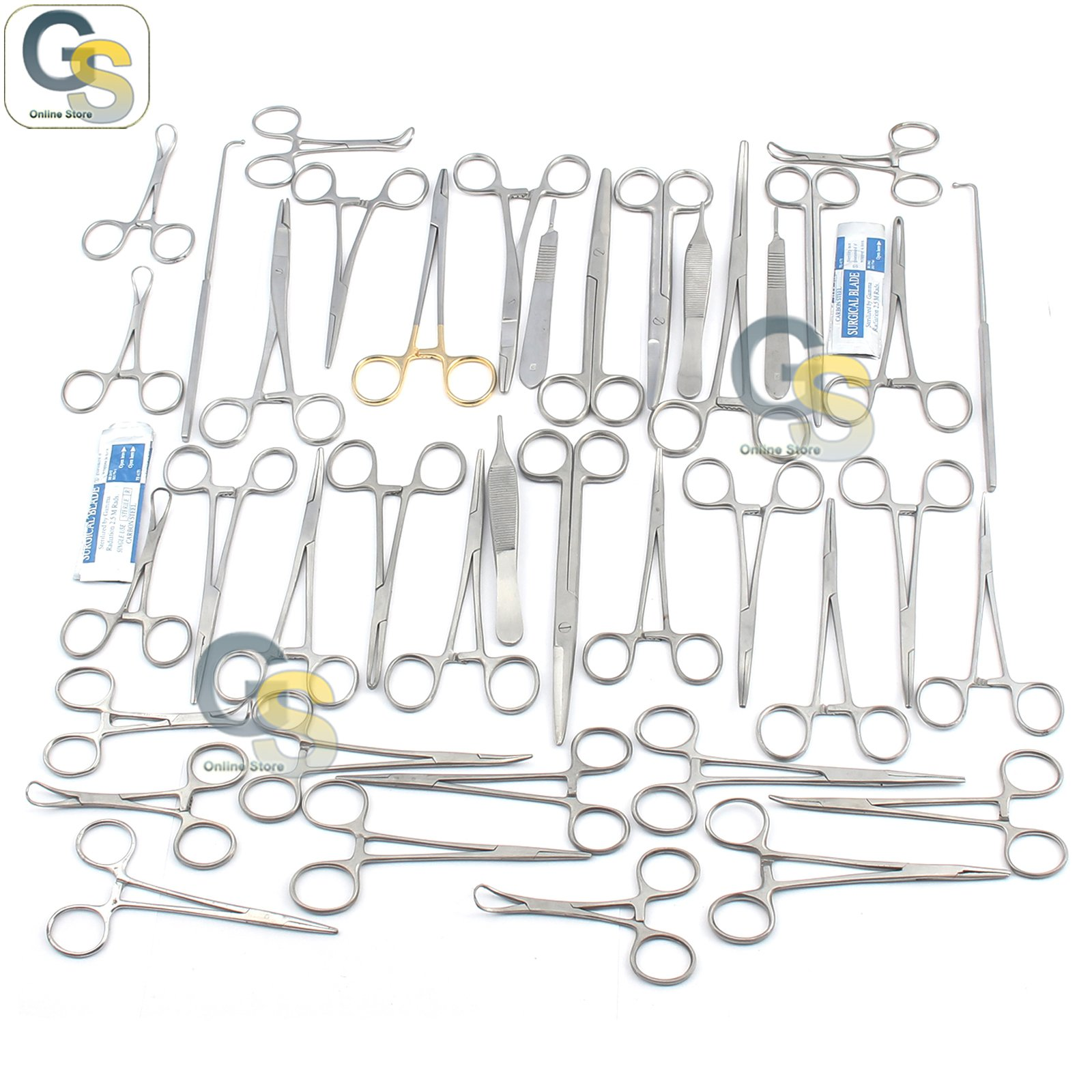 G.S Feline + Canine Spay Pack 91 Piece Premium Stainless Steel Veterinary Set Best Quality by G.S ONLINE STORE