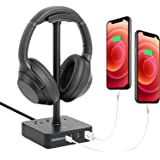 Volisun Headphone Stand with USB Charger, 1USB C Fast Charging,3 USB Charging Port,3 1200W max AC Outlet,Suitable for…