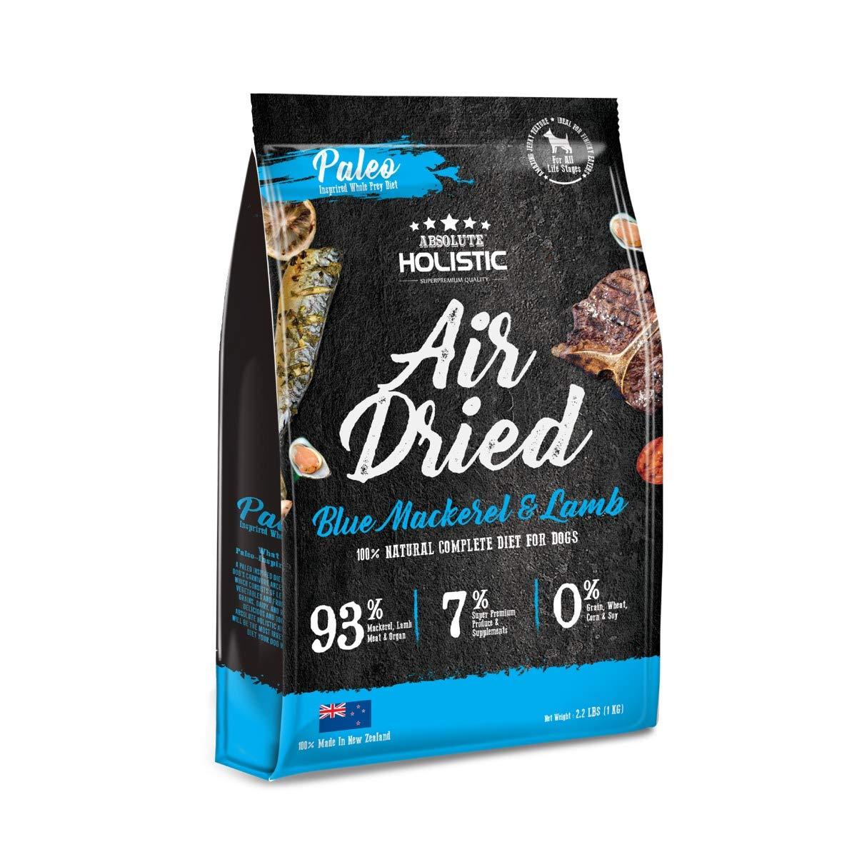 Absolute Holistic bluee Mackerel & Lamb Air Dried Dog Food 1kg