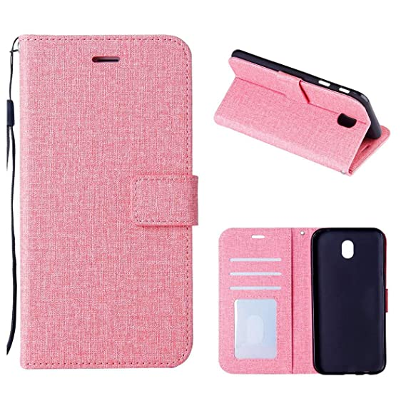 5eb58417930 Galaxy J7 2017 Case, HENGHUA 360 Degrees Protection PU Leather Card Slots  Soft TPU Stand