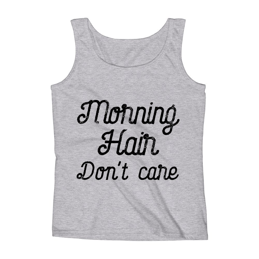 Mad Over Shirts Morning Hair Don/'T Care Messy Struggle Unisex Premium Tank Top
