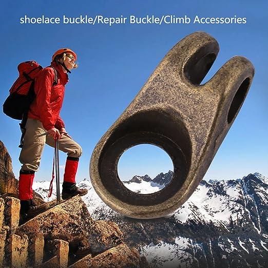 10 Sätze Kupfer Boot Lace Haken für Wandern Klettern Reparatur Schnalle