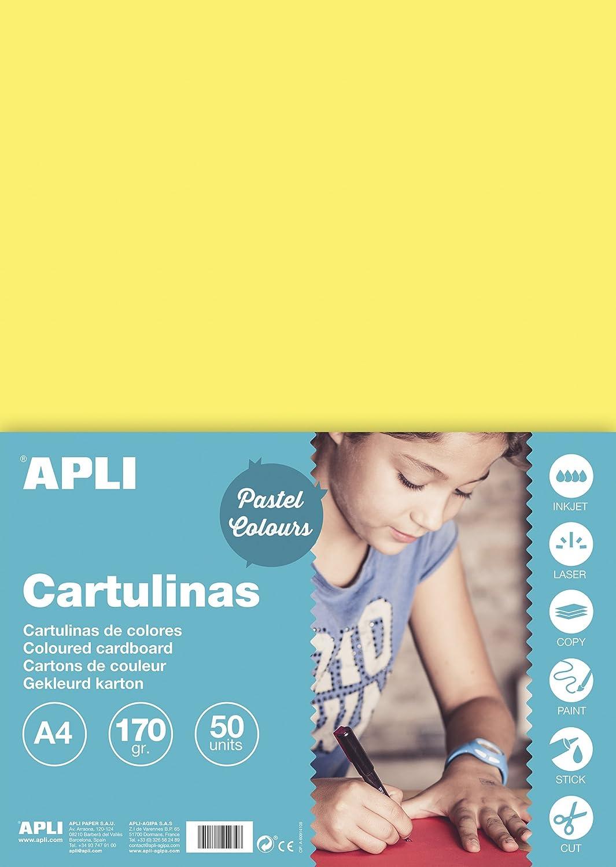 APLI 14236 color azul claro Cartulina 170g A4 50 hojas