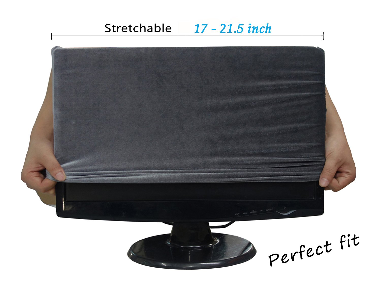 WOMACO Stretch Monitor Cover Protector, Monitor + Keyboard + Mouse Desktop 3 Pieces Set Dustproof Cover by WOMACO (Image #2)