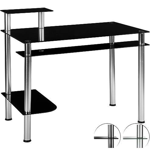 Computertisch glas schwarz  STILISTA® Glas Computertisch, Varianten: Klarglas und Schwarzglas ...