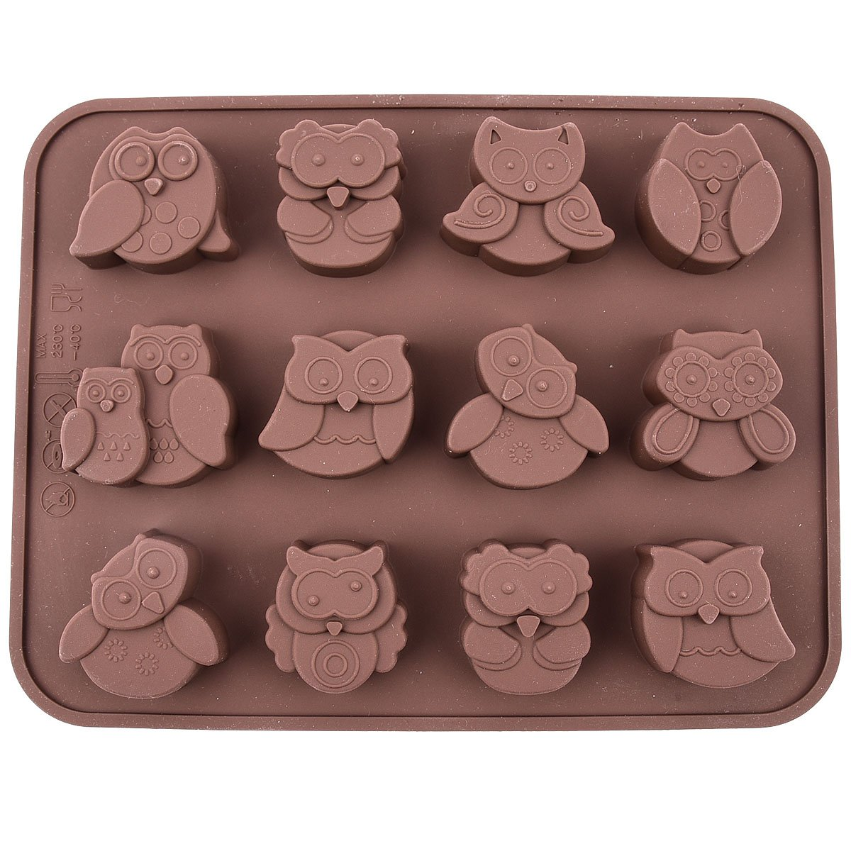 Silicone Owl Baking Mold Only.