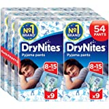 Huggies DryNites Pyjama Pants for Boys, Age 8-15 - 54 Pants Total