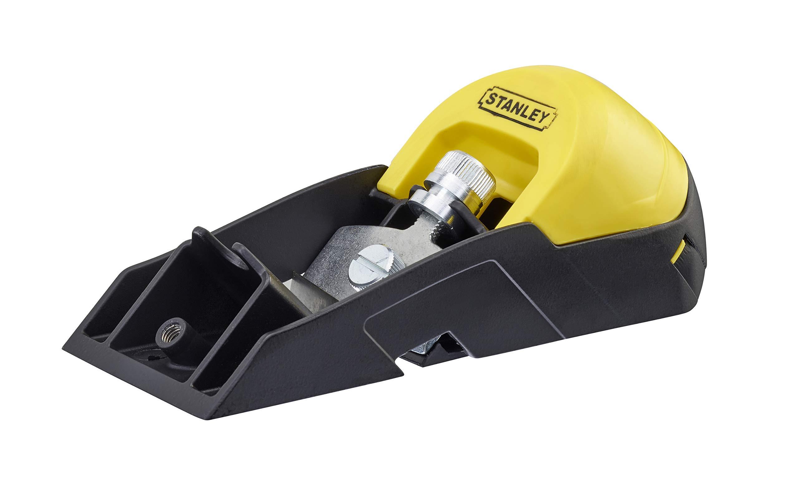 Stanley 0-12-105 Cepillo Metálico RB5 + hoja de recambio-50mm, Black/Yellow