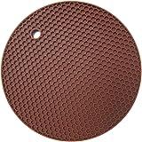 "Rimobul 7"" Multipurpose Silicone Coasters - Set of 6 (Chocolate)"
