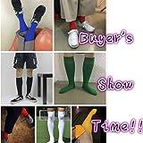 Three street White Soccer Socks, Unisex Long Knee