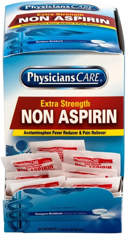 PhysiciansCare Non Aspirin Acetaminophen Pain Reliever Medication (Compare to Tylenol), 50 Doses: Health & Personal Care