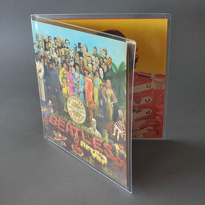 CUIDATUMUSICA Fundas Exteriores para Discos de Vinilo con Carpeta Abierta (Gatefold) para Doble LP: Amazon.es: Electrónica