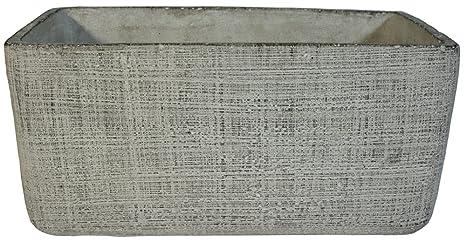 Vaso Da Esterno Grigio : Fioriera in cemento rettangolo grigio cm cm cm per