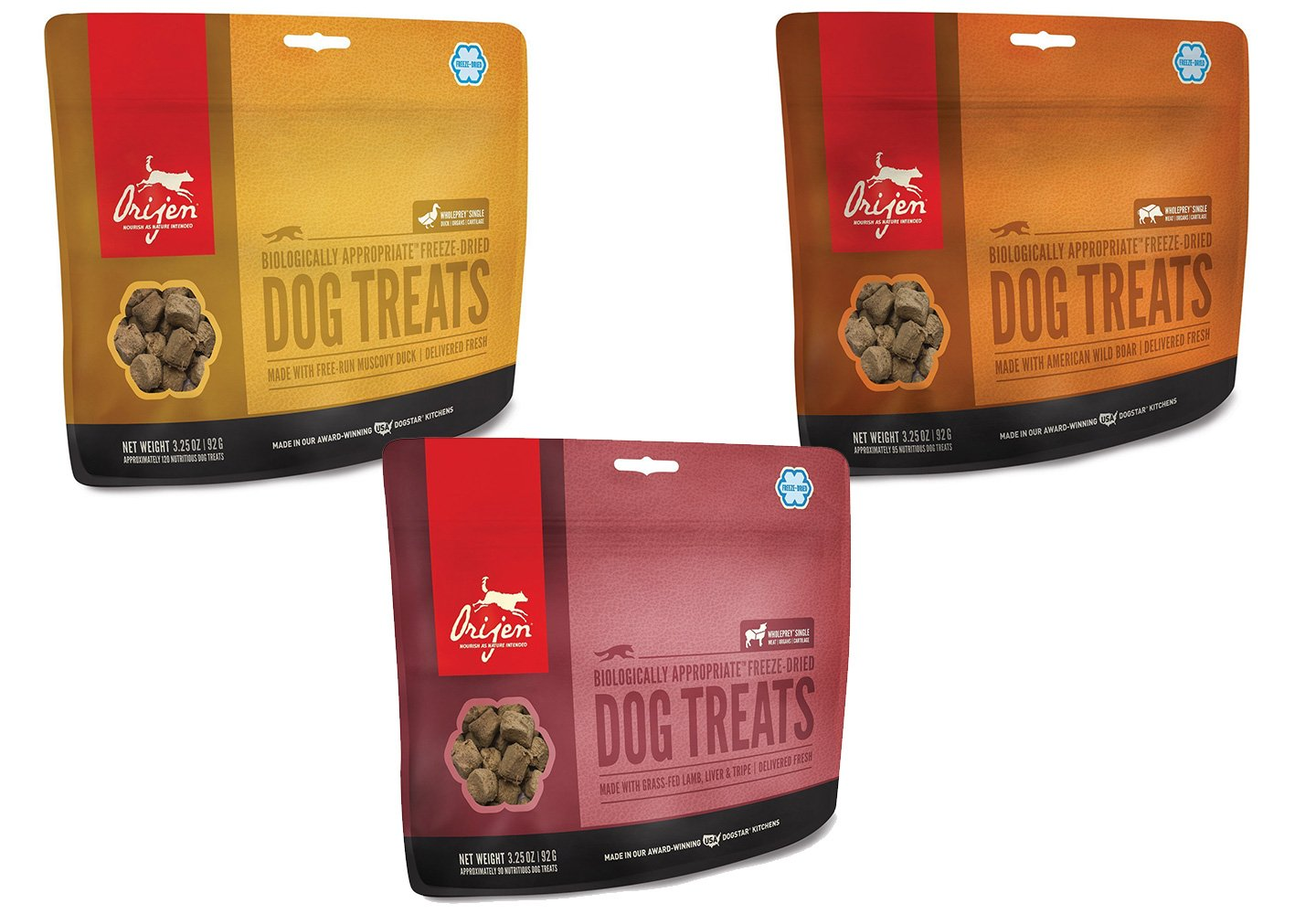 Orijen Dog Treats Combo Pack 3-3.25oz