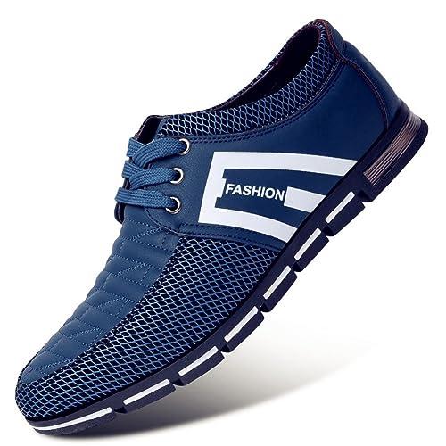 Besporter Zapatos de Cuero con Cordones para Hombre Mocasines de ocio Zapatillas de deporte: Amazon.es: Zapatos y complementos